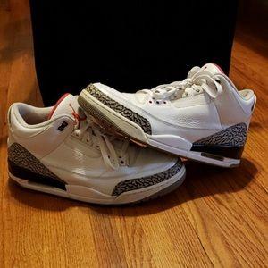 Jordan 3 white cement size 13